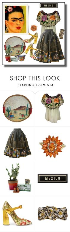 """""""The Artful Journey to Mexico!!"""" by faten-m-h ❤ liked on Polyvore featuring Vintage, Child Of Wild and Gucci"""