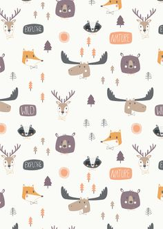 Leading Illustration & Publishing Agency based in London, New York & Marbella. Nursery Patterns, Baby Patterns, Print Patterns, Koala Illustration, Forest Illustration, Cute Patterns Wallpaper, Cute Disney Wallpaper, Sewing Patterns For Kids, Cool Patterns