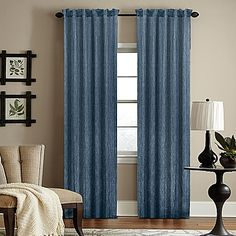 The Woodrow Sheer Rod Pocket Window Curtain Panel puts the finishing touch on your casual or fomal decor with its textured look. Featuring a modern and unique woven stripe, the sheers provide privacy while allowing light to pass through.