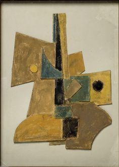 """Marcel Janco - Projet pour """"Miracle"""", (1919 - 1920), Collage de cartons gouachés et collés sur carton, 59 x 42 cm"""