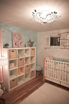 I love these shelves for both girls' rooms