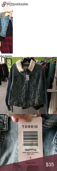Torrid 1 Sherpa jeans jacket new with tags Torrid 1 Sherpa jeans jacket new with tags Torrid 1 (14/16 or XL) New with $64.90 tags torrid Jackets & Coats Jean Jackets