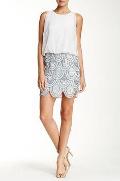 Gracia - Sleeveless Gathered Waist Beaded Skirt Dress at Nordstrom Rack. Free Shipping on orders over $100.