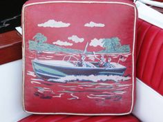 Vintage boat cushion. For seat.