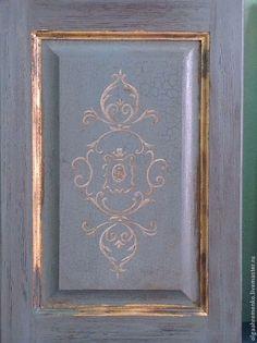 Купить Кухня с росписью. Орнамент. - мебель ручной работы, Роспись по дереву, роспись мебели
