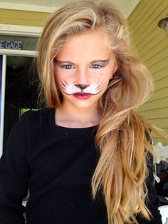 Lion Face Paint Easy Elegant Face Painting On Tatumn Beautiful Lion Face Paint Easy, Wolf Face Paint, Leopard Face Paint, Tiger Face Paints, Kitty Face Paint, Simple Tiger Face Paint, Puppy Face Paint, Mouse Face Paint, Cat Face Makeup