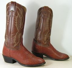 tony lama cowboy boots mens 7.5 EE wide by vintagecowboyboots, $79.99