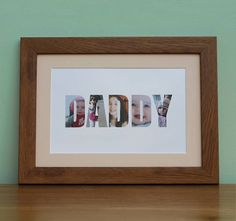 personalised framed 'daddy' photograph print by imagine photowords & craft kits | notonthehighstreet.com