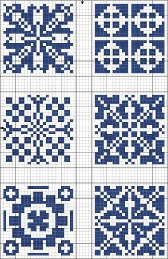 Cross-stitch Blue tiles, part 2 Biscornu Cross Stitch, Cross Stitch Charts, Cross Stitch Designs, Cross Stitch Embroidery, Cross Stitch Patterns, Filet Crochet, Crochet Chart, Blackwork, Blue Tiles