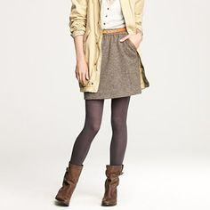 tights, boots & skirt