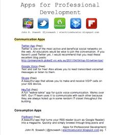 Teachers' Professional Development Apps ~ Educational Technology and Mobile Learning