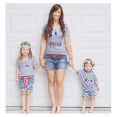"""""""There's some insanely cute mama and little babe matchy matchy going on here!! Love this trio in their FOREVER & ALWAYS set!! """" Photo taken by @morganandmaeco on Instagram, pinned via the InstaPin iOS App! http://www.instapinapp.com (08/10/2015)"""