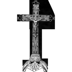 Delicate, Large Silver Filigree Tabletop Crucifix Marked On The Inside Of  The Base Indicating A Silver Fineness Of Italyu0027s Silver