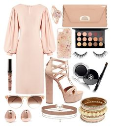 """#96"" by that-anime-geek901 on Polyvore featuring Osman, Thierry Lasry, Christian Louboutin, Aquazzura, Monica Vinader, Anrealage, MAC Cosmetics, Miss Selfridge, tarte and Chanel"