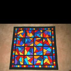 My first stained glass quilt.