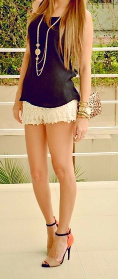 Enjoy shorts with shoes