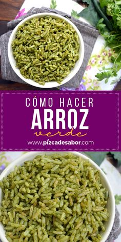 Cómo hacer arroz verde. Vegetarian Soup, Vegetarian Recipes, Healthy Recipes, Arroz Recipe, Superfood, Easy Cooking, Cooking Recipes, Malay Food, Colombian Food