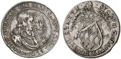 AR Silver striking of the 3 Ducat. Germany Coin, Bavaria, Ferdinand Maria 1651-1679. 1652, Munich mint. 8,65g. Witt 1354. R! Good VF. Price realized 2011: 800 USD.
