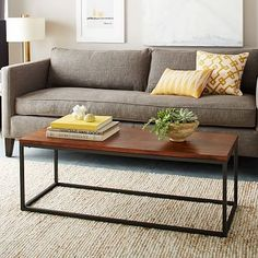 Narrow Box Frame Coffee Table - Café #westelm