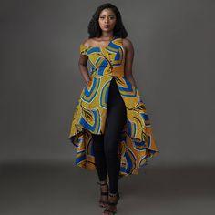 Image may contain: 1 person, standing Ankara Clothing, African Print Clothing, African Print Fashion, Africa Fashion, African Fashion Dresses, African Attire, African Wear, Ethnic Fashion, African Women