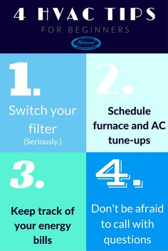 New to the HVAC world? Renting or buying for the first time? Let these four tips help ease the transition...