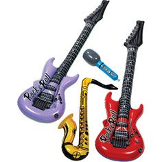 """Inflatable Musical Instruments and a small """"stage"""" for the kids to play"""