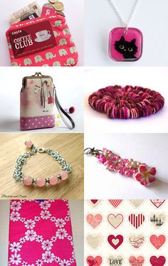 In the Pink by Jenny Bates on Etsy--Pinned with TreasuryPin.com