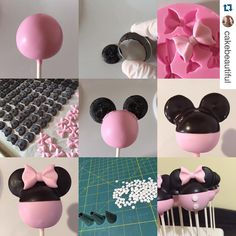 Mickey/Minnie cake pops