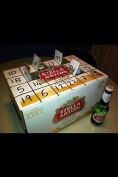 advent calendar #funnygift #countdown #christmas #DIY #adult @Amanda Snelson Snelson Snelson Snelson Snelson Snelson Rotay how about with yuengling