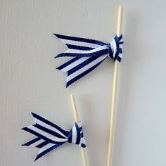 Kate + Cormac DIY: Ribbon Drink Stirrers
