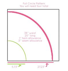 Circle Skirt Calculator. Includes a downloadable Excel worksheet to do the math for you.