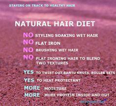 DIET .....NATURAL HAIR HAIR CARE TIPS