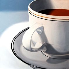 Mark Webster - Large Coffee Cup Still Life Oil Painting -- Mark Adam Webster