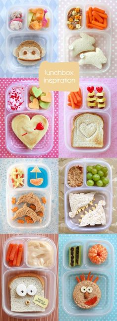 * Lunchbox Inspiration...i probably am way too lazy to ever do this, but it's a cute idea...