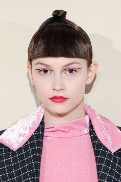 Graphic eyeliner and a topknot // Tata Naka Fall 2015