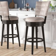 Leonore Swivel Bar Stool by Red Barrel Studio – StellarHeart Counter Height Bar Stools, 24 Bar Stools, Kitchen Stools, Bar Counter, Swivel Bar Stools, Bar Chairs, Room Chairs, Island Stools, Kitchen Storage