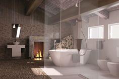 Appiani Mix Kjøkken Bathtub, Space, Contemporary Bathrooms, Inspiration, Tiles, Mosaic, Contemporary, Design Inspiration, Bathroom
