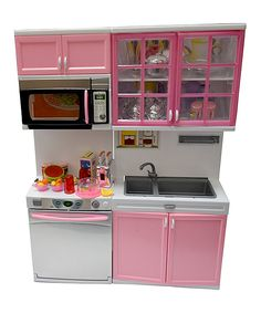 Loving this Pink Kitchen Play Set on #zulily! #zulilyfinds