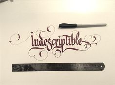 Proyectos de Caligrafia 1/ Calligraphy work 1 by Marcelo Pellizo, via Behance