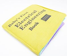 Cloth Book  Electrical Engineering Baby Book by VerdantViolet, $39.00