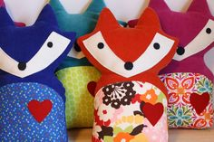 #8 put a fox on it. Corduroy Woodland Fox Pillow with Red Heart. $35.00, via Etsy. #findlittlefox #mothersday
