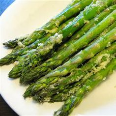 Asparagus is good for you and so Yummy!!!   Roasted Asparagus with Parmesan