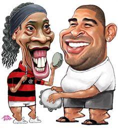 Caricaturas Ronaldo Adriano Flamengo Pagode  Kkkkkkk
