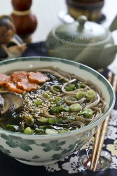 This simple soba in dashi broth is light yet tasty and satisfying. There is minimum preparation work and it takes only minutes to cook. #japanesefood #soba Soup Recipes, Cooking Recipes, Budget Recipes, Noodle Recipes, Drink Recipes, Asian Recipes, Healthy Recipes, Ethnic Recipes, Asian Foods