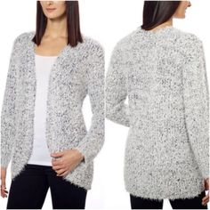 💥PRICE DROP💥 Open Eyelash Cardigan Open front Easy and over-sized fit Super soft feel Two-tone knit yarn - 64% polyester & 36% acrylic Drop shoulder with long sleeves Kensie Sweaters Cardigans