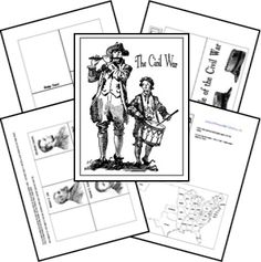 Civil War Lapbook Templates