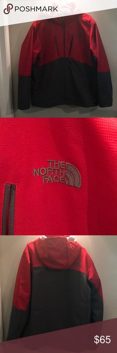North face men's winter jacket In excellent condition, nothing wrong with it. There's one tiny pen mark on collar, can barely see it. Has many pockets in jacket, the hood zips off. Any questions at all, don't hesitate to ask. Make me an offer. The North Face Jackets & Coats