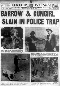 Bonnie Parker and Clyde Barrow are killed in police ambush in 1934 Bonnie Parker, Bonnie Clyde, Bonnie And Clyde Death, Bonnie And Clyde Photos, Famous Outlaws, Westerns, Mafia Gangster, Dangerous Minds, New Travel