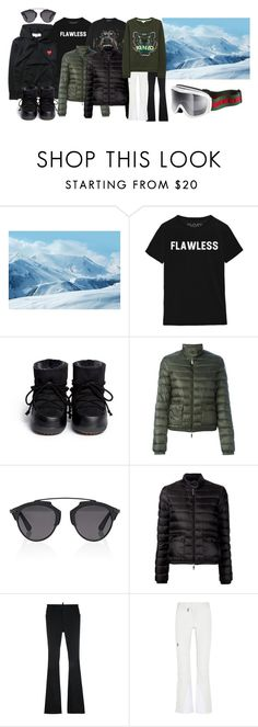 """skiing"" by ewestling ❤ liked on Polyvore featuring Northland, IKKII, Givenchy, Moncler, Christian Dior, Dsquared2, Peak Performance, Kenzo and Gucci"
