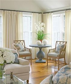 "Airy Transitional Living Room by Kathleen Hay - ""airy transitional"" that's a perfect description of my taste"